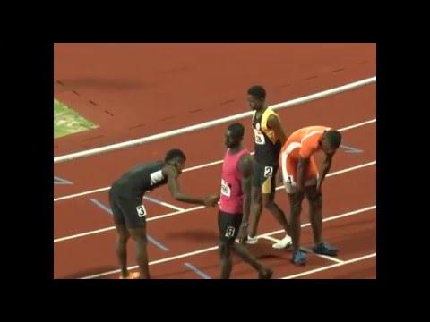 Junior Charles of Grenada in 400m 47.39