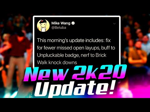 NBA 2K20 NEW UPDATE MIKE WANG CONFIRMS FIXED UNPLUCKABLE BADGE, NERF TO BRICK WALL, BUFF OPEN LAYUPS