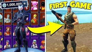 DISGUISING AS A NOOB! *SECRETLY The RICHEST FORTNITE ACCOUNT* | Fortnite Battle Royale Gameplay