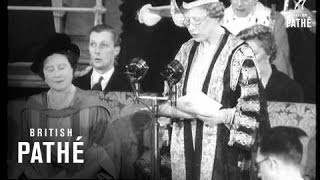 Queen Mother Receives Degree At Leeds (1954)