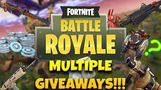 FORTNITE ON A SCHOOL NIGHT!!!: MULTIPLE GIVEAWAYS!!!
