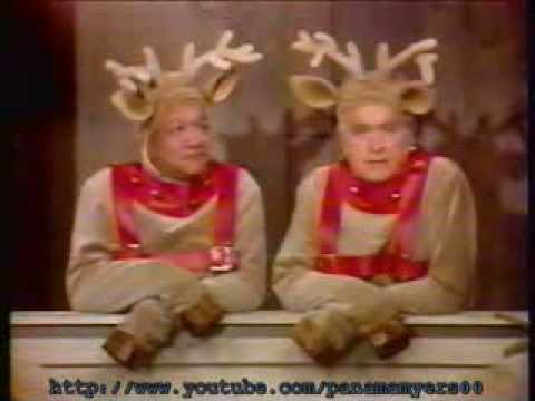 Bob Hope and Redd Foxx as reindeer 1975