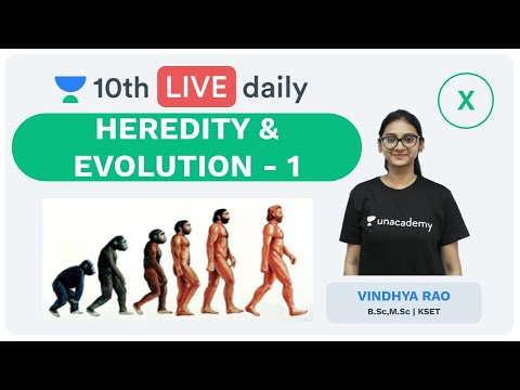 Heredity & Evolution - Lecture 1 | Class 10 | Unacademy Foundation - Biology | Vindhya Rao