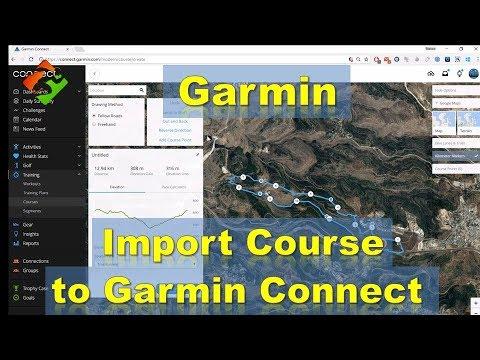 Garmin - Import (gpx) Course to Garmin Connect