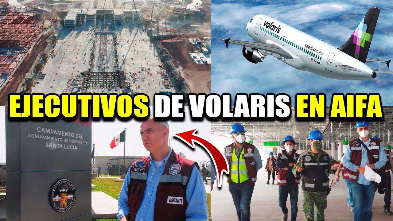 EJECUTIVOS DE VOLARIS VISITAN EL NUEVO AEROPUERTO QUEDAN SORPRENDIDOS POR EL AVANCE