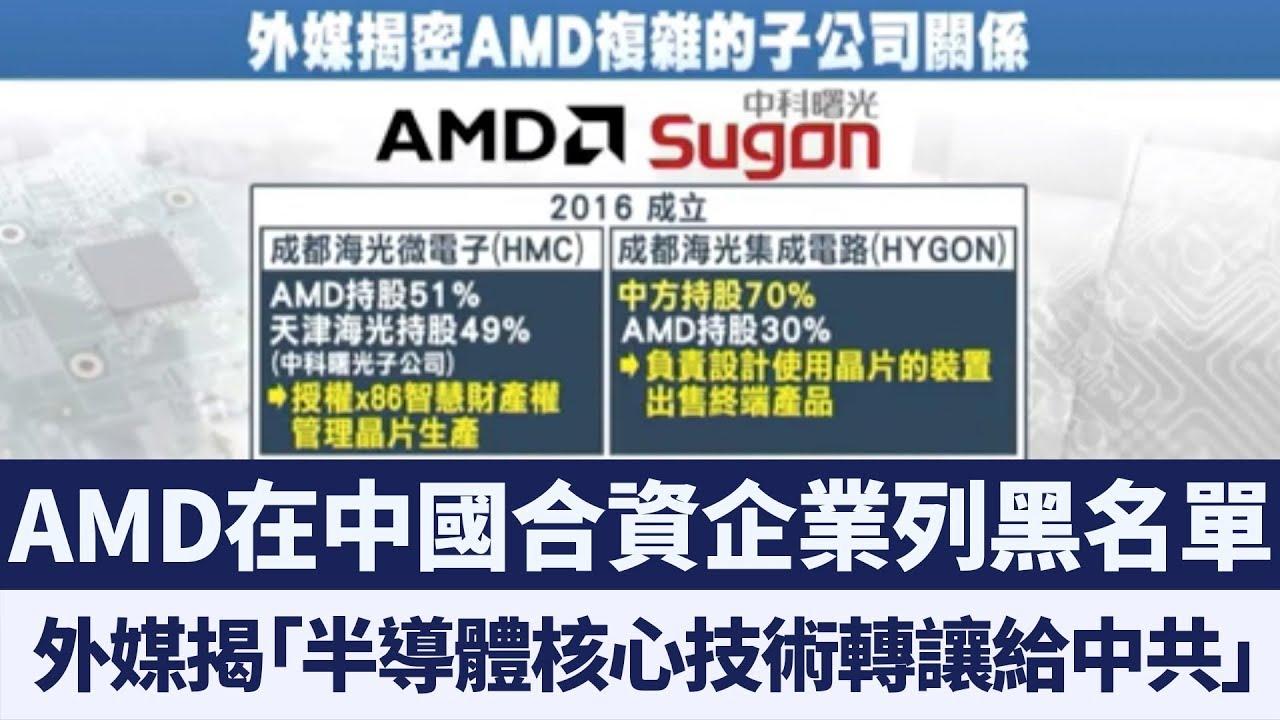 Amd在中國合資公司列黑名單外媒爆半導體核心技術轉讓給中共
