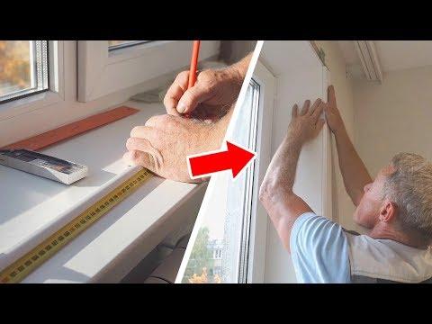 Как установить откосы на пластиковые окна своими руками видео