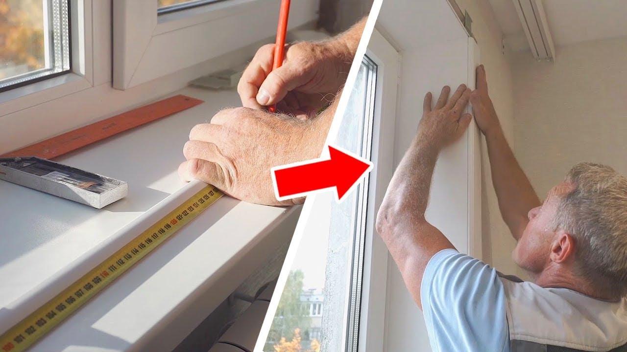 Как выполняется установка подоконника на пластиковое окно?
