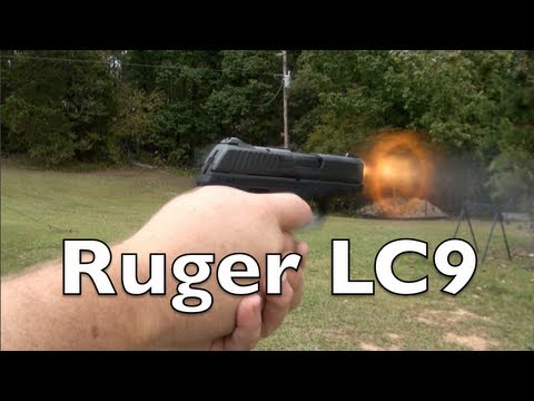 Ruger LC9 Pistol Shooting