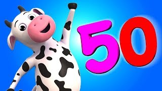 1 to 50 Numbers Song | Kindergarten Learning Videos For Children