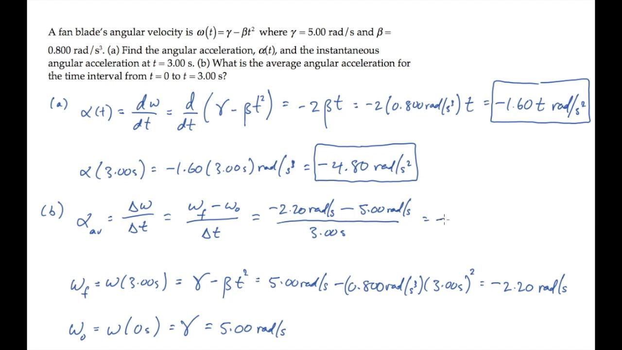 Torque and angular acceleration example 2 | physics mechanics.