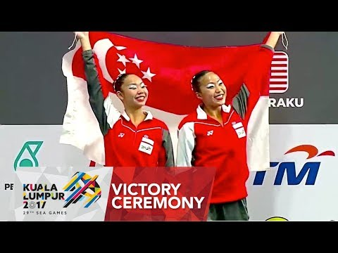 Synchronised Swimming Duet Technical Routine Finals Victory Ceremony | 29th SEA Games 2017