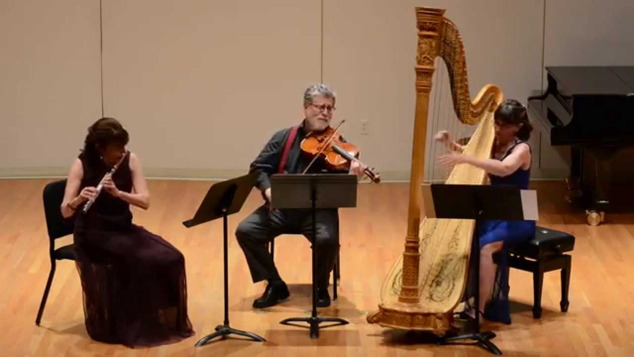 Debussy Sonata for flute, viola, and harp HD 2014 Colorado College
