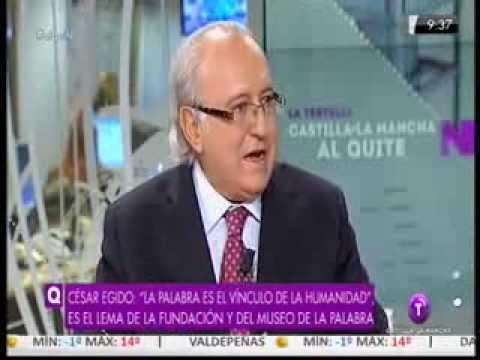 """Museodelapalabra.com Entrevista a César Egido en """"Al Quite"""" de Televisión Castilla la Mancha"""