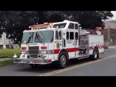 BERGEN COUNTY NEW JERSEY FIRE TRUCKS RESPONDING COMPILATION P-4
