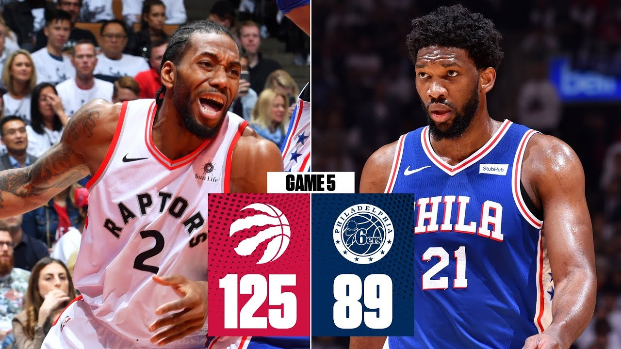 Kawhi Leonard leads Raptors to blow out of 76ers in Game 5 | 2019 NBA Playoff Highlights