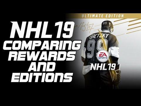 NHL 19 | Returning User Bonus, LEGENDS And Comparing Editions + Bonus'