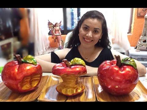 Pinta cermica Centro de mesa de manzanas TECNICA DE