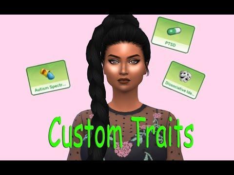 Sims 4 Custom Traits || Mental Health Traits - YouTube