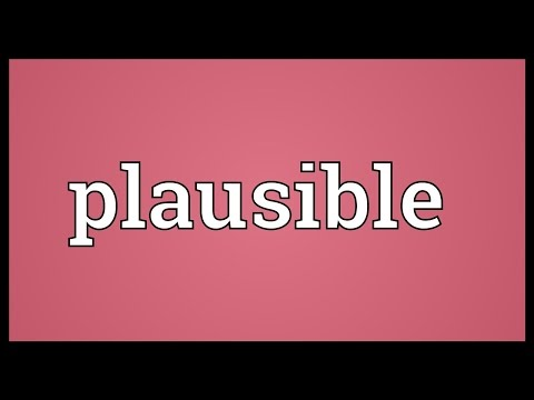 Plausible Meaning