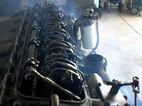 GM Detroit Diesel 6-71 Cold Start, Idle Rolling (Hunting), Walk-Around, Rocker Action