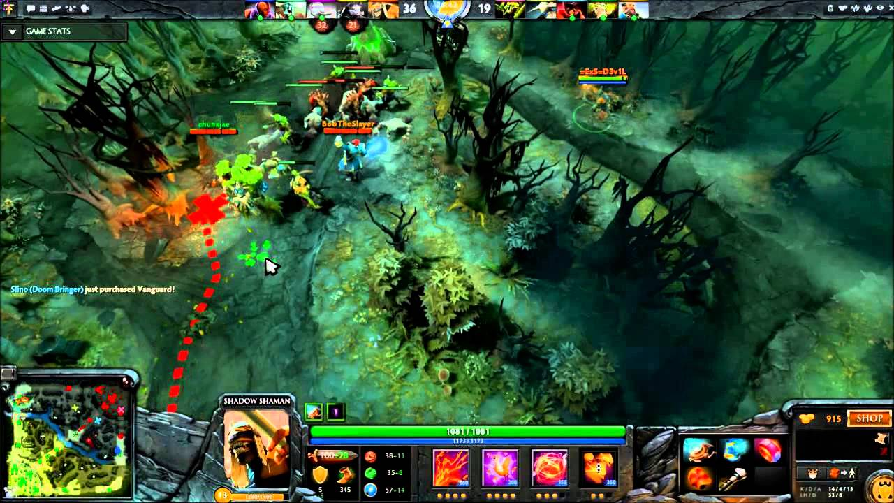dota 2 exs d3v1l shadow shaman carry youtube