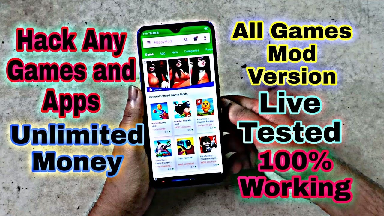 Hack Any Game & Apps Unlimited Money || HappyMod Apk