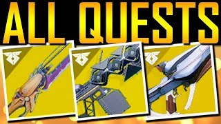 Destiny 2 - ALL EXOTIC QUESTS! SECRET CODE!