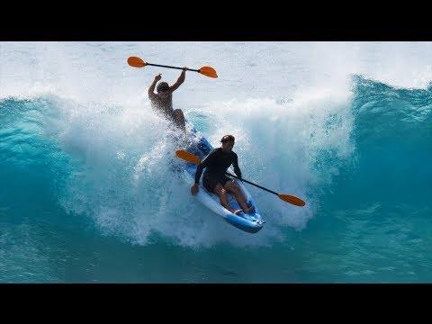 CRAZY KAYAK SURFING AT PIPELINE | JAMIE O'BRIEN
