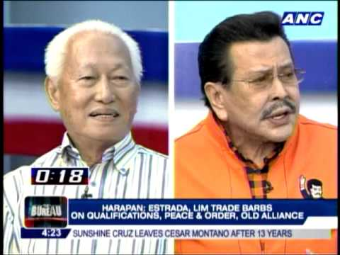 Erap, Lim pull no punches in fiery debate