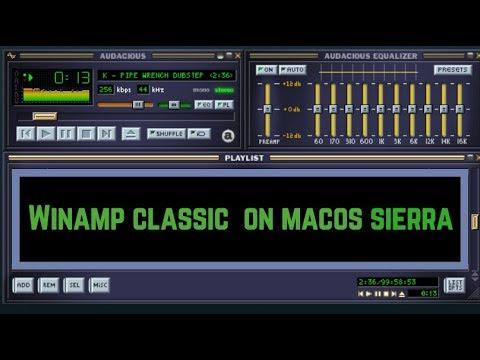 Winamp  CLASSIC on macOS Sierra