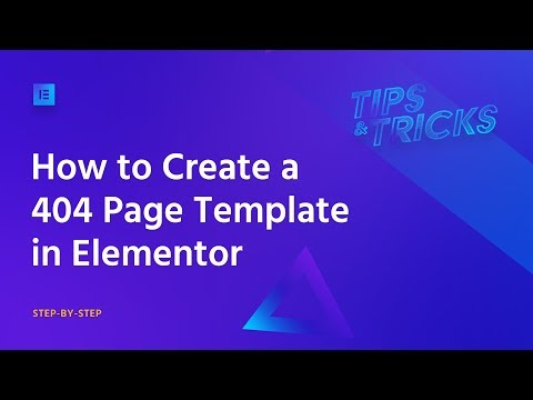 How to Create a 404 Page Template in WordPress With Elementor
