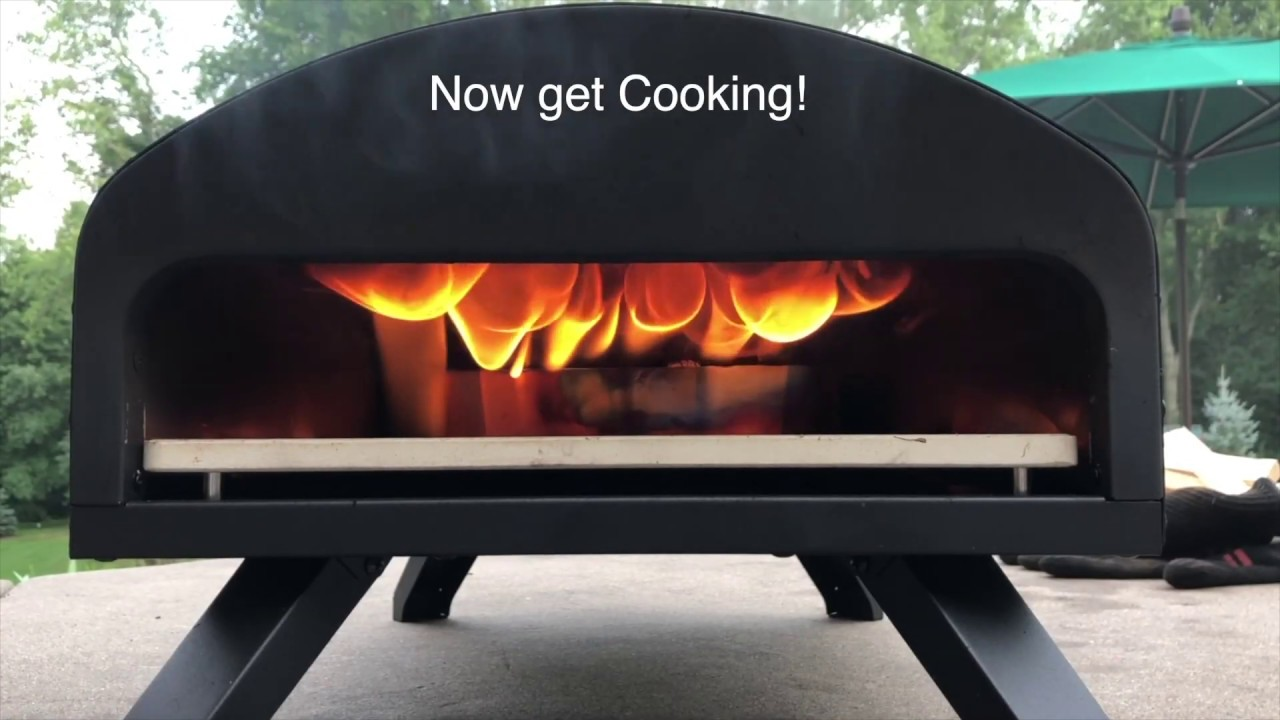 Bertello Pizza Oven Using Wood With Charcoal Youtube