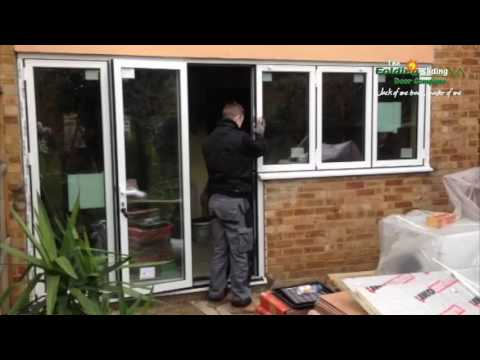Bi-Folding door set meets Bi-Folding window