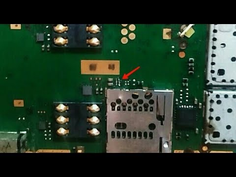 Nokia X1-01 MMC Problem.....{Remove The MMC Small IC & Jumper The Points} (100%) Solution