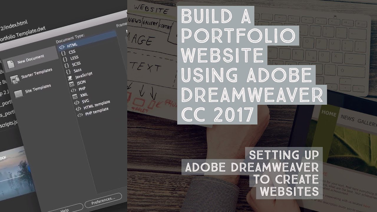 setting up adobe dreamweaver to create websites dreamweaver
