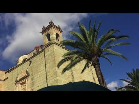 Santo Domingo church, market and walkaround Oaxaca Mexico Dec 2017