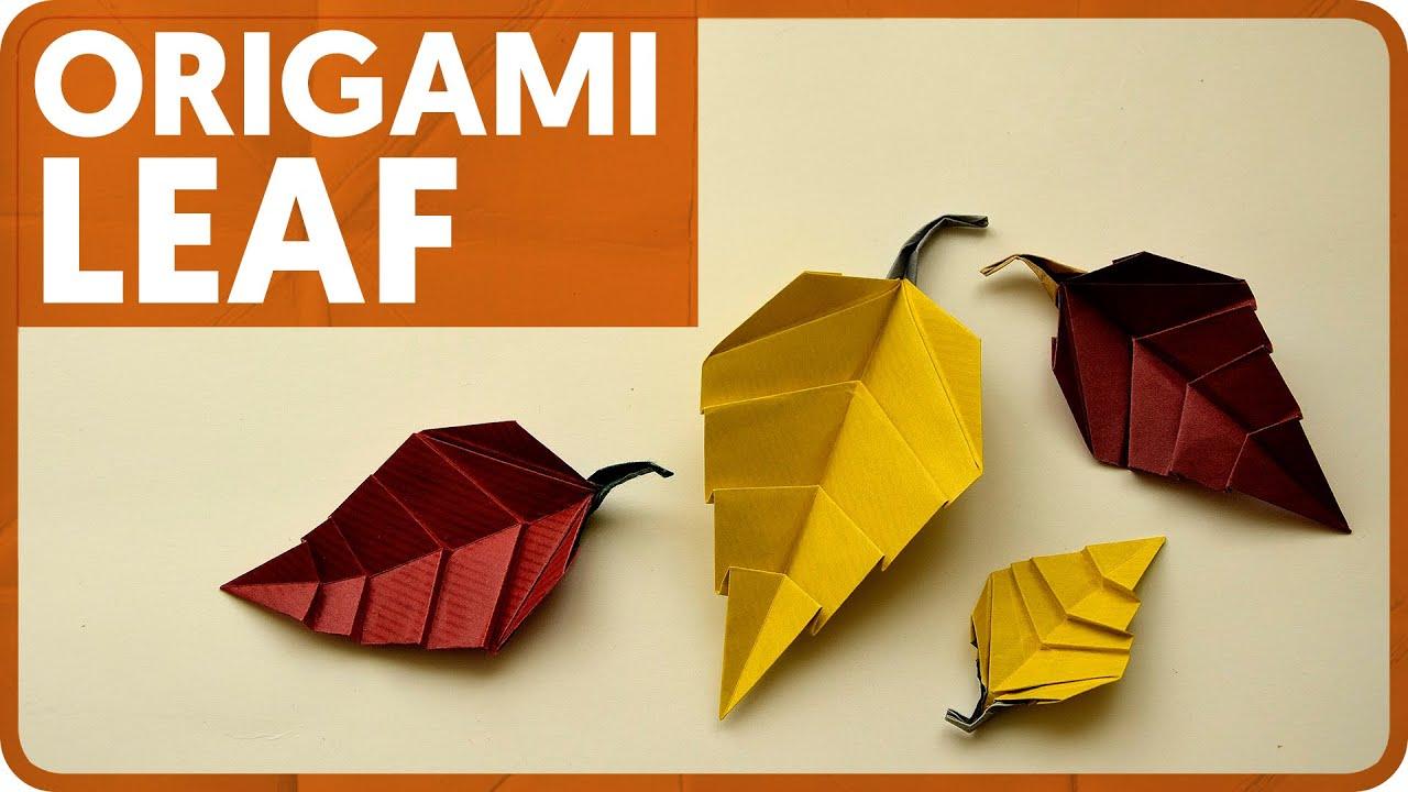 origami leaf youtube