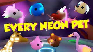Adopt Me Pets Every Neon Pet Revealed Which One Is Best Youtube