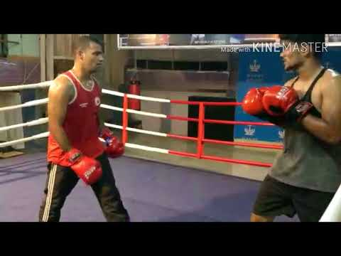 Boxing practice with Siddharth Verma IBC ranker