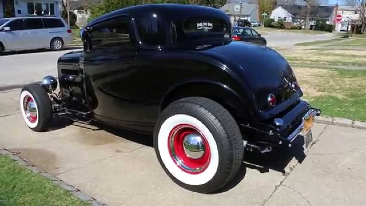 1932 Ford Highboy 3 Window Coupe For Sale 350 Air Conditioning