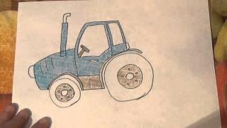 Рисуем трактор. Уроки рисования для самых маленьких. Развивающие мультфильмы