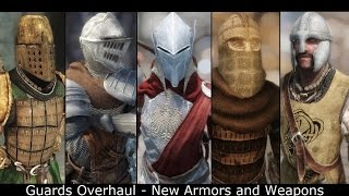 Skyrim Mods: Guards Overhaul - New Armors and Weapons