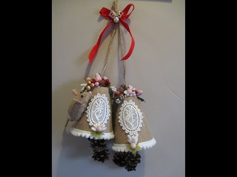 Easy Christmas Burlap Bells Tutorial - jennings644 thumbnail