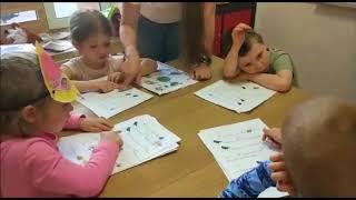 Урок английского языка, дети 4-5 лет