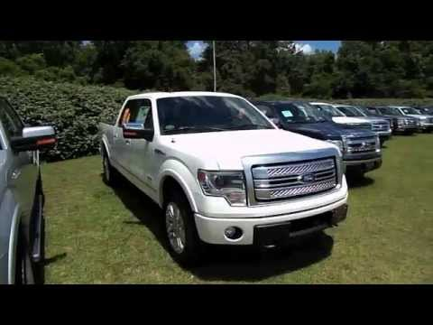 2013 ford f 150 platinum edition pearl white beaufort sc youtube. Black Bedroom Furniture Sets. Home Design Ideas