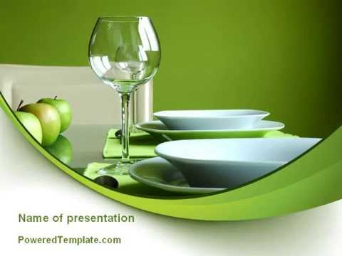 Table Setting PowerPoint Template By PoweredTemplate