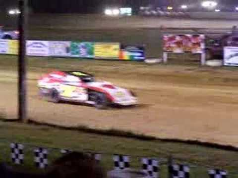 Modifed Driver Casey Findley takes the checkered flag