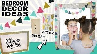 Glam Paper Crafts | DIY Bedroom Decor Ideas | Light Switch Covers & Garland