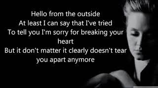 Adele   Hello Official Lyrics Video HD online video cutter com
